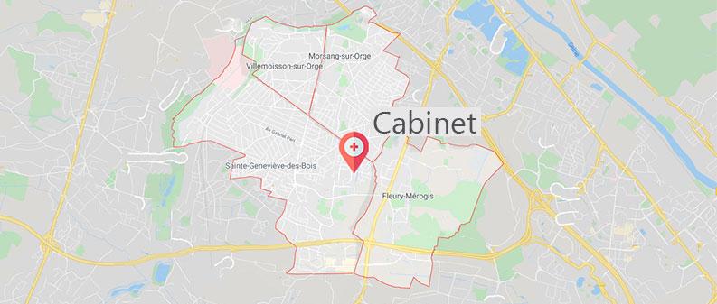 Carte des visites à domicile de Colette Mai, infirmière libérale à Sainte-Geneviève-des-Bois
